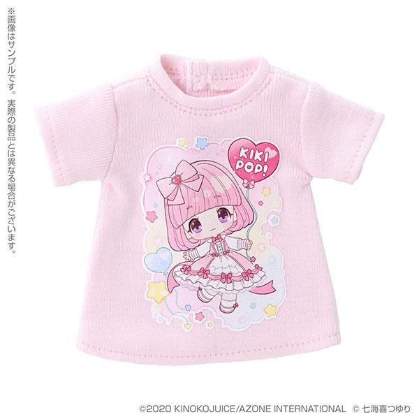 きのこプラネット『 KIKIPOP!×七海喜つゆり Tシャツワンピース(ピンク)』KIKIPOP!用 ドール服
