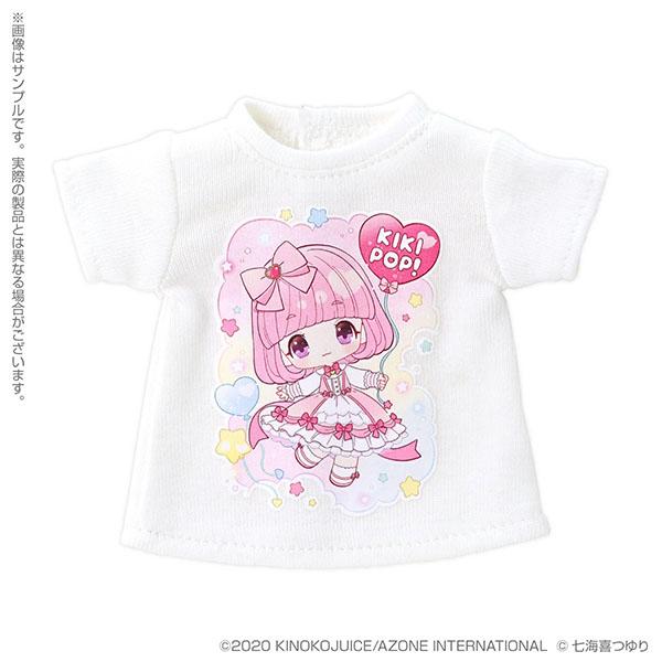 きのこプラネット『 KIKIPOP!×七海喜つゆり Tシャツワンピース(ホワイト)』KIKIPOP!用 ドール服