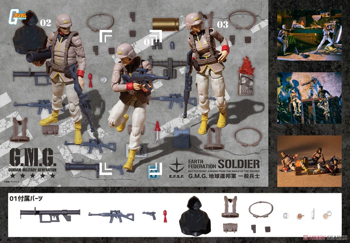G.M.G. ガンダムミリタリージェネレーション『地球連邦軍一般兵士01』1/18 可動フィギュア-009