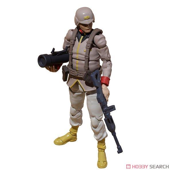 G.M.G. ガンダムミリタリージェネレーション『地球連邦軍一般兵士01』1/18 可動フィギュア-011