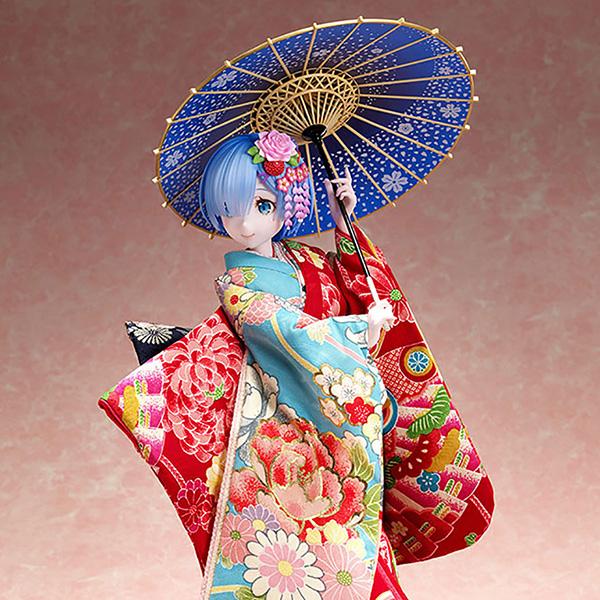 吉徳×F:NEX『レム -日本人形-』Re:ゼロから始める異世界生活 1/4 美少女フィギュア