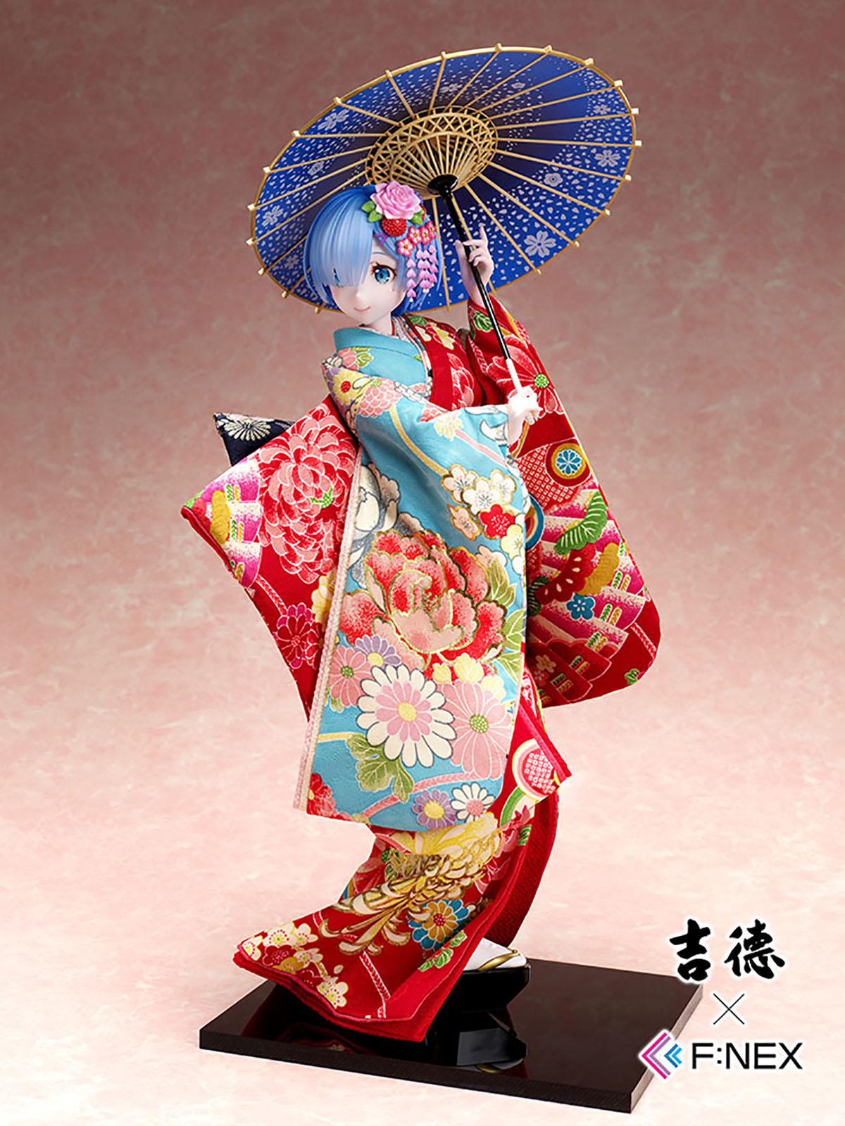 吉徳×F:NEX『レム -日本人形-』Re:ゼロから始める異世界生活 1/4 美少女フィギュア-001