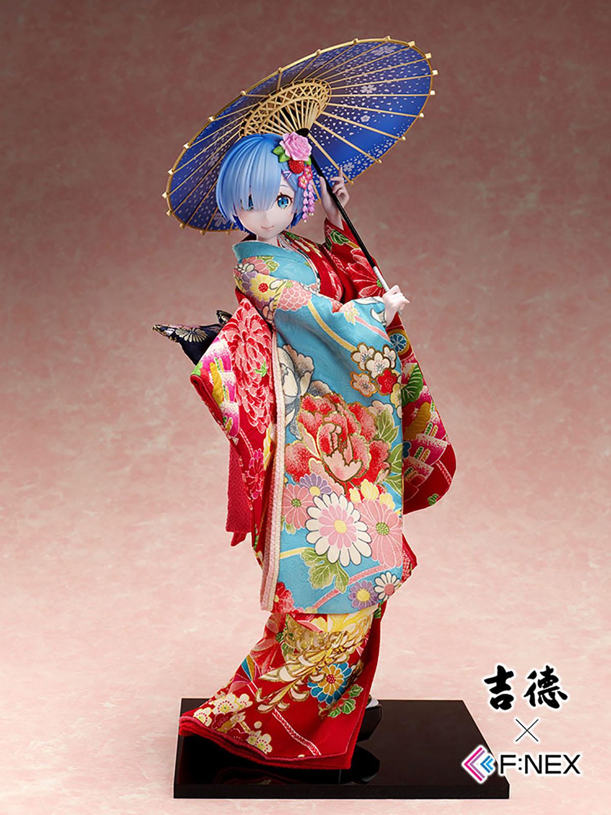 吉徳×F:NEX『レム -日本人形-』Re:ゼロから始める異世界生活 1/4 美少女フィギュア-002