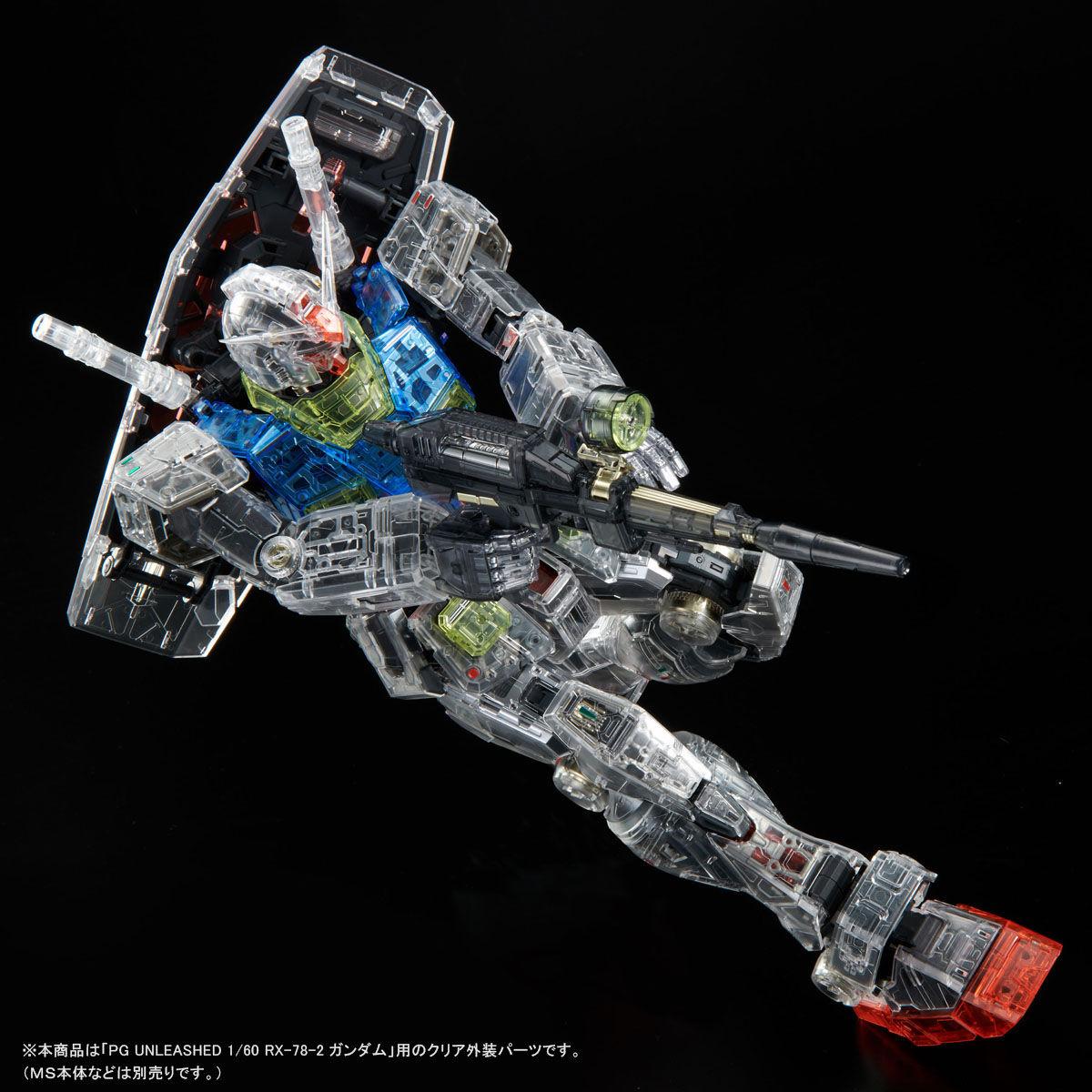 【限定販売】PG UNLEASHED 1/60『RX-78-2 ガンダム クリアカラーボディ』プラモデル-006