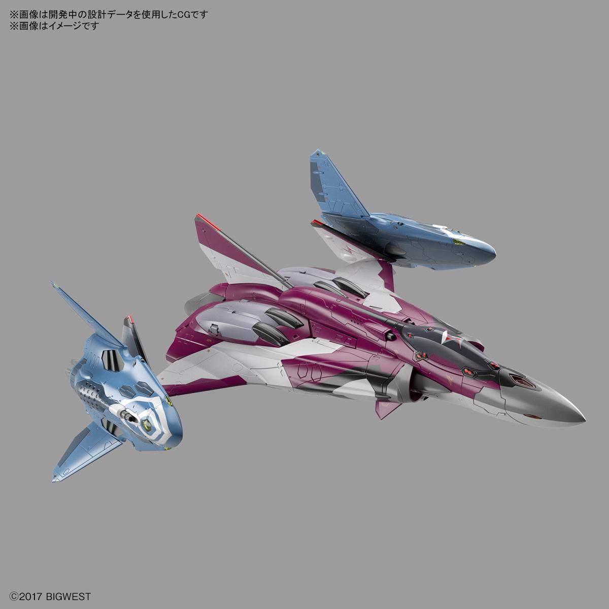 1/72『Sv-262HsドラケンIII/リル・ドラケン装備(ミラージュ・ファリーナ・ジーナス搭乗機)』マクロスΔ プラモデル-001