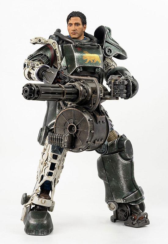フォールアウト『T-45 NCR Salvaged Power Armor(NCRサルベージ パワーアーマー)』フォールアウト 1/6 可動フィギュア-009