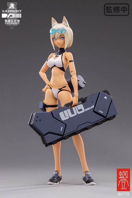 【限定販売】G.N.PROJECT 第1.5弾『WOLF-001 水着素体・武装セット』1/12 可動フィギュア-003