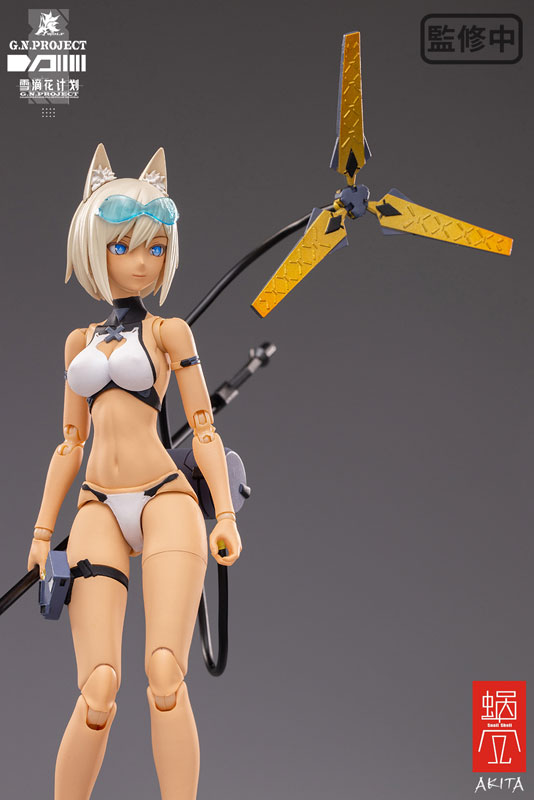 【限定販売】G.N.PROJECT 第1.5弾『WOLF-001 水着素体・武装セット』1/12 可動フィギュア-013