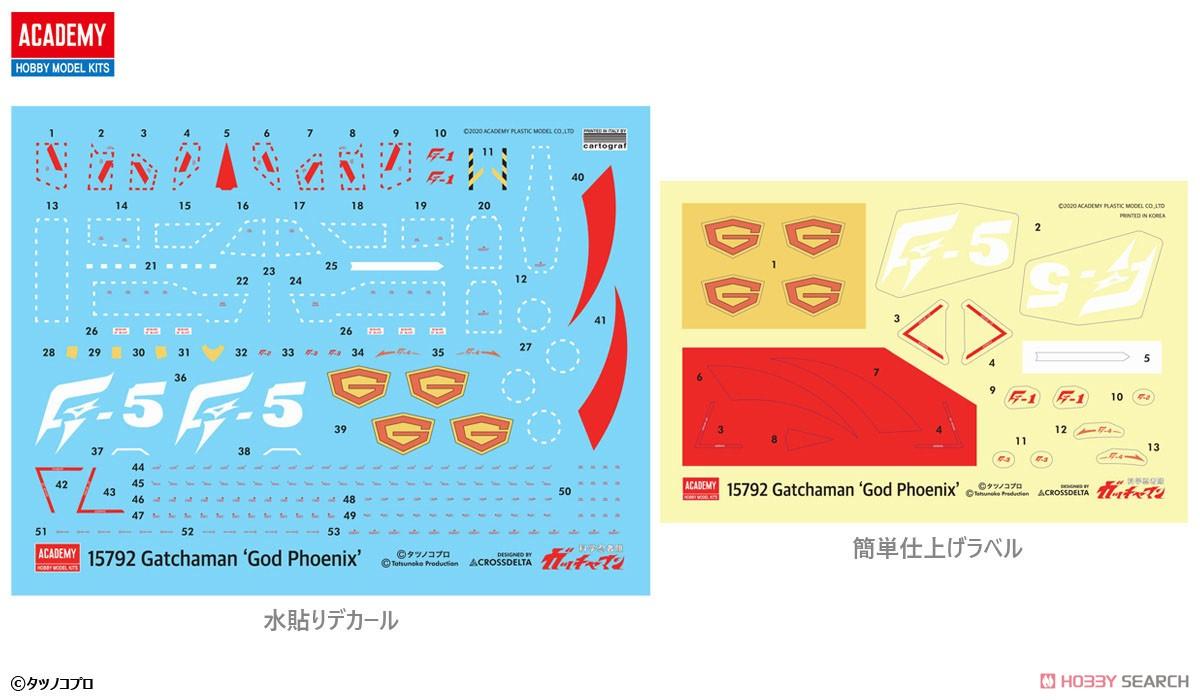 科学忍者隊ガッチャマン『ゴッドフェニックス』プラモデル-003