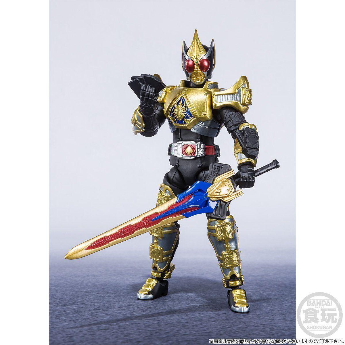 【限定販売】【食玩】SHODO-X『仮面ライダー剣 キングフォームセット』可動フィギュア-003