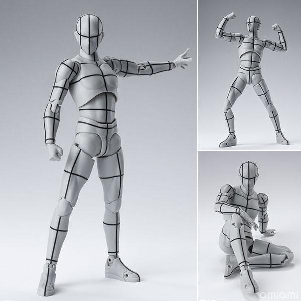 S.H.Figuarts『ボディくん -ワイヤーフレーム-(Gray Color Ver.)』可動フィギュア