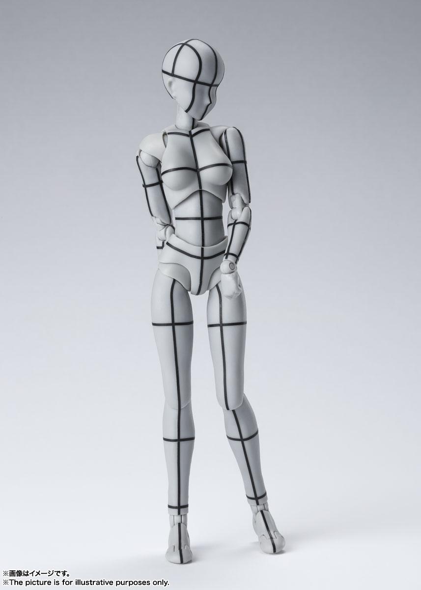 S.H.Figuarts『ボディちゃん -ワイヤーフレーム-(Gray Color Ver.)』可動フィギュア-001