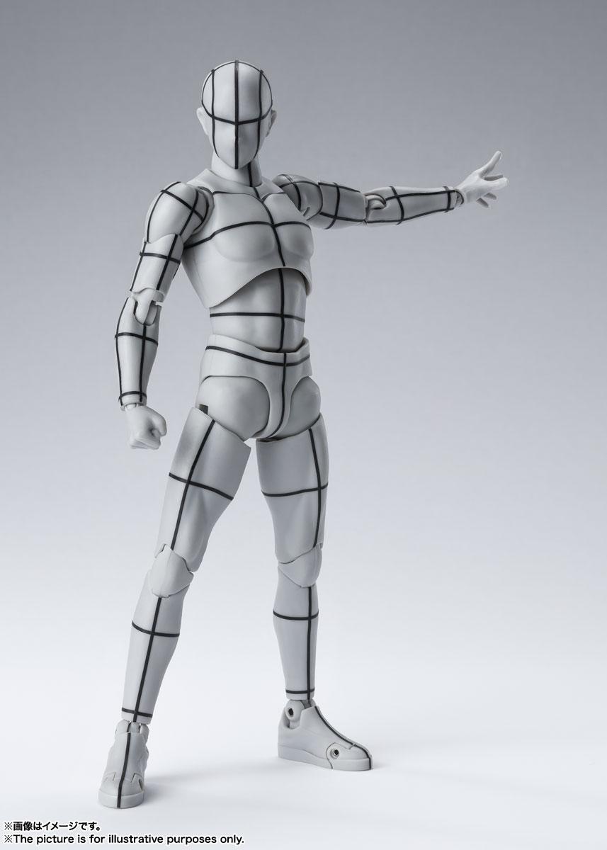 S.H.Figuarts『ボディちゃん -ワイヤーフレーム-(Gray Color Ver.)』可動フィギュア-005