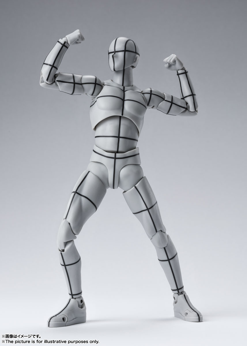 S.H.Figuarts『ボディちゃん -ワイヤーフレーム-(Gray Color Ver.)』可動フィギュア-006