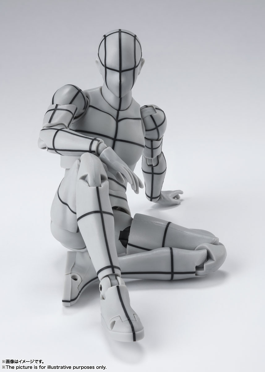 S.H.Figuarts『ボディちゃん -ワイヤーフレーム-(Gray Color Ver.)』可動フィギュア-007