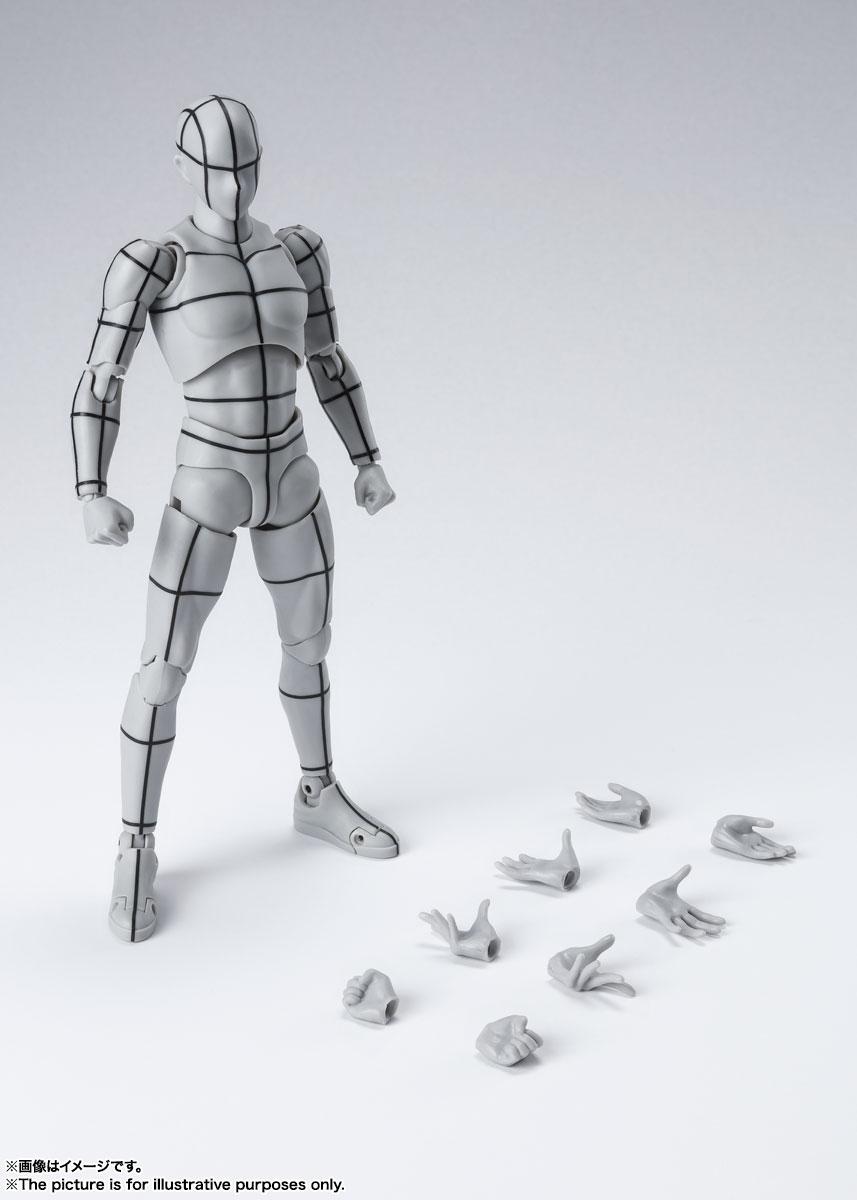 S.H.Figuarts『ボディちゃん -ワイヤーフレーム-(Gray Color Ver.)』可動フィギュア-008