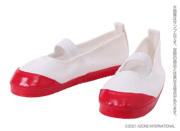 45cmコレクション『50上履きII[白×赤]』1/3 ドール服