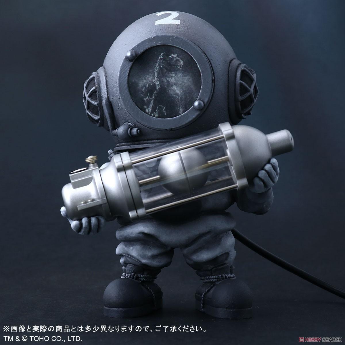 デフォリアル『芹沢博士 モノクロVer.』ゴジラ デフォルメ完成品フィギュア-001