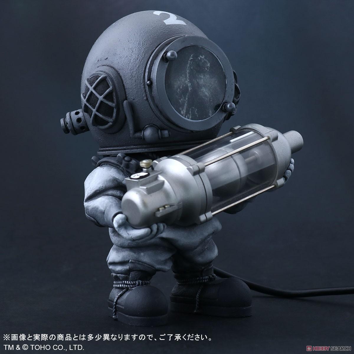 デフォリアル『芹沢博士 モノクロVer.』ゴジラ デフォルメ完成品フィギュア-002