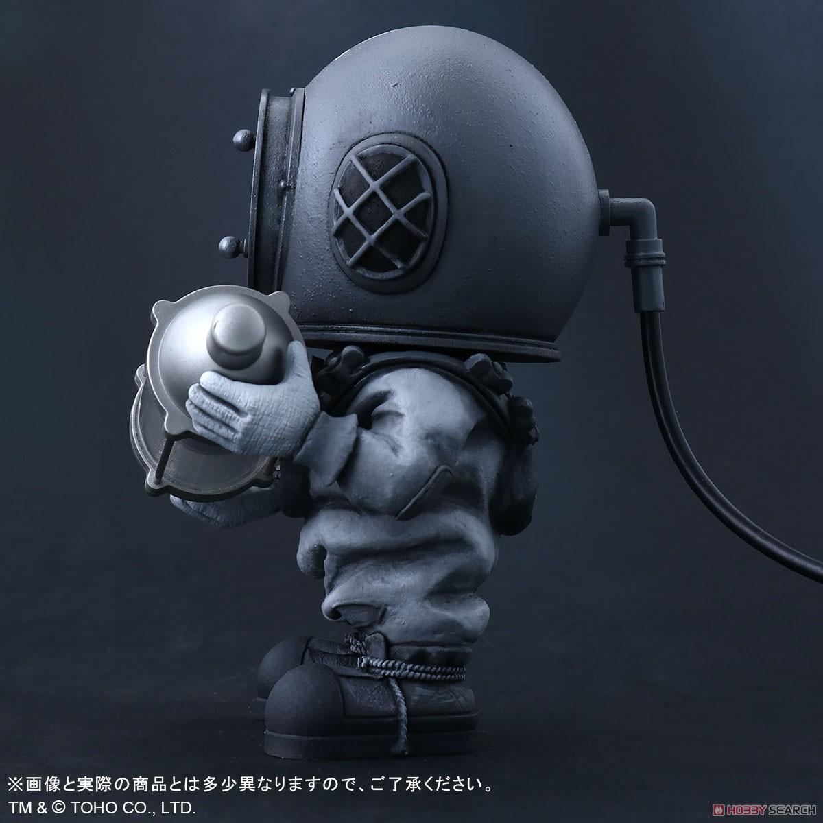デフォリアル『芹沢博士 モノクロVer.』ゴジラ デフォルメ完成品フィギュア-004