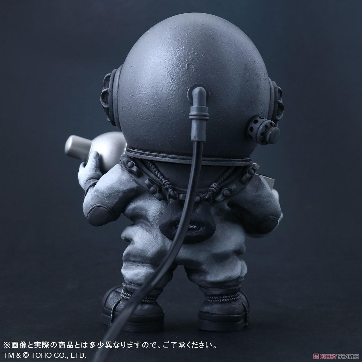 デフォリアル『芹沢博士 モノクロVer.』ゴジラ デフォルメ完成品フィギュア-005