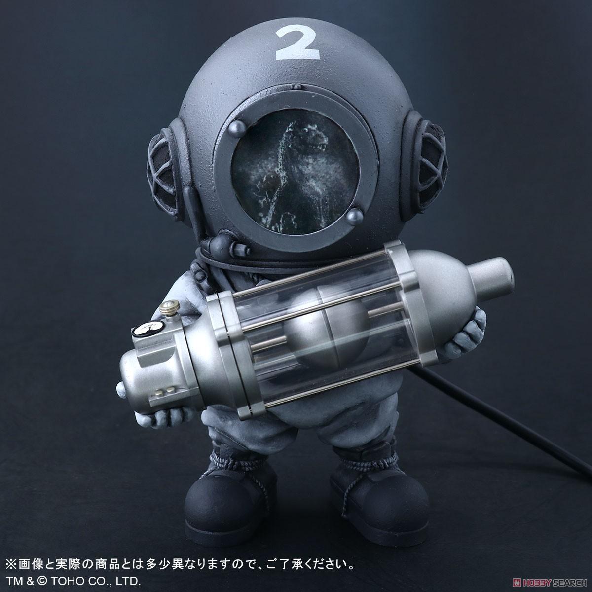 デフォリアル『芹沢博士 モノクロVer.』ゴジラ デフォルメ完成品フィギュア-007