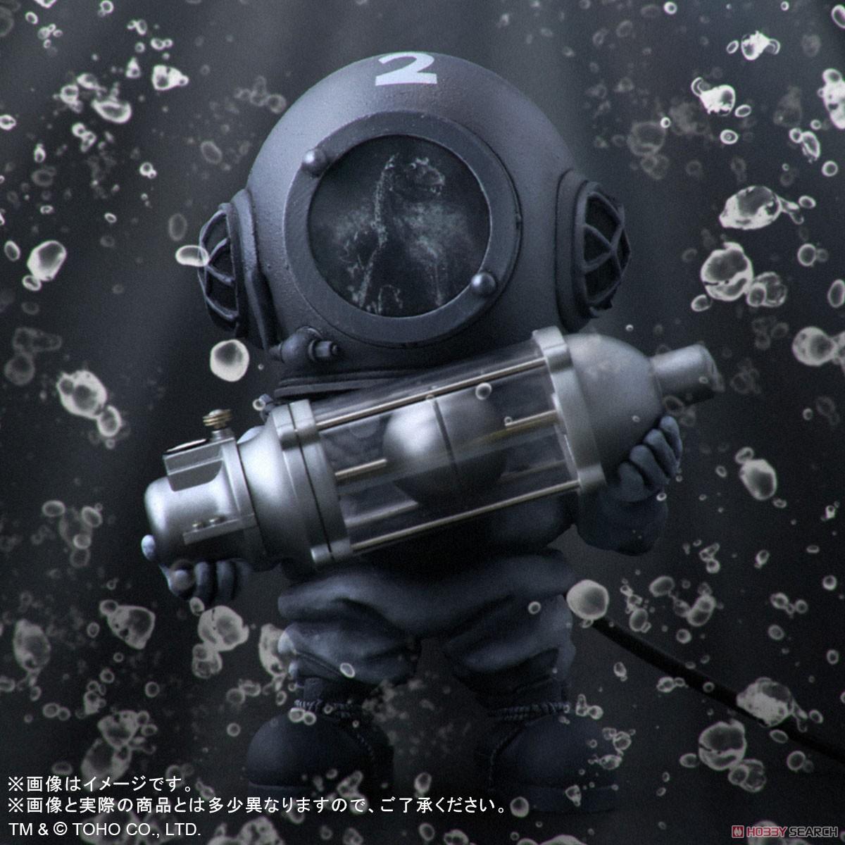 デフォリアル『芹沢博士 モノクロVer.』ゴジラ デフォルメ完成品フィギュア-009