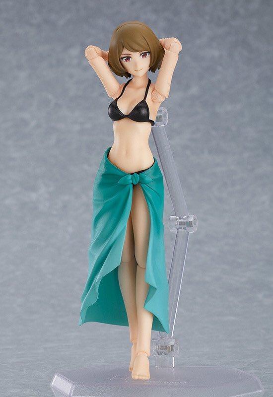 figma styles『水着女性body(チアキ)』可動フィギュア-002