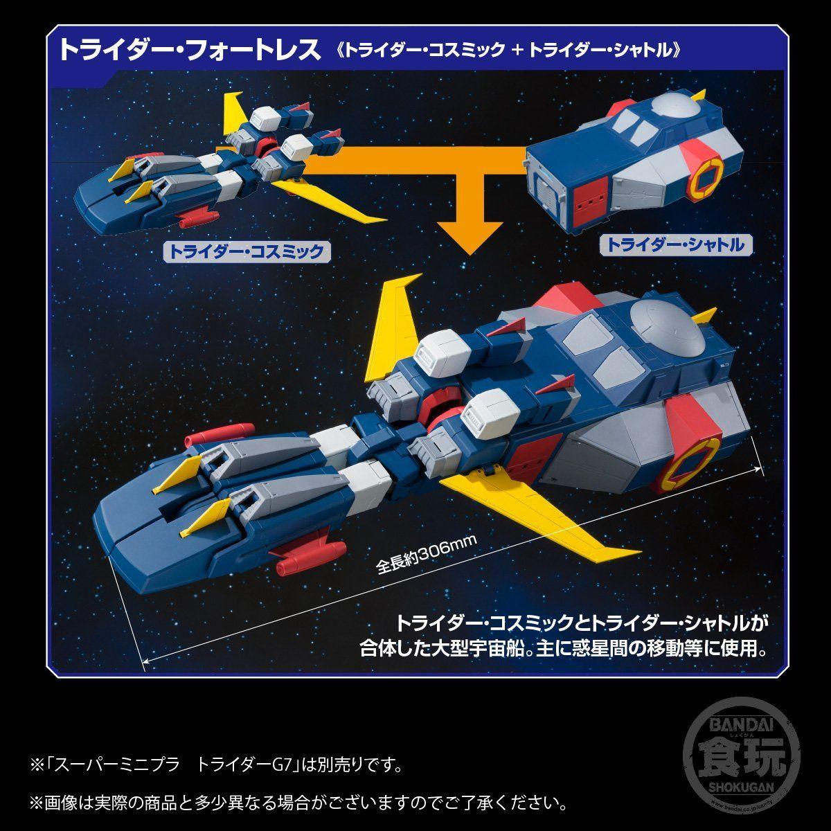 【食玩】スーパーミニプラ『無敵ロボ トライダーG7』3個入りBOX-014