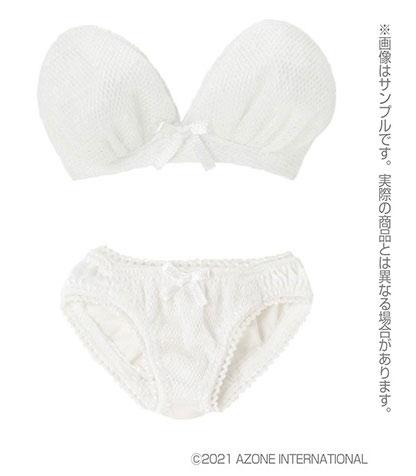 AZO2『ストラップレスブラ&ショーツset[ホワイト]』1/3 ドール服