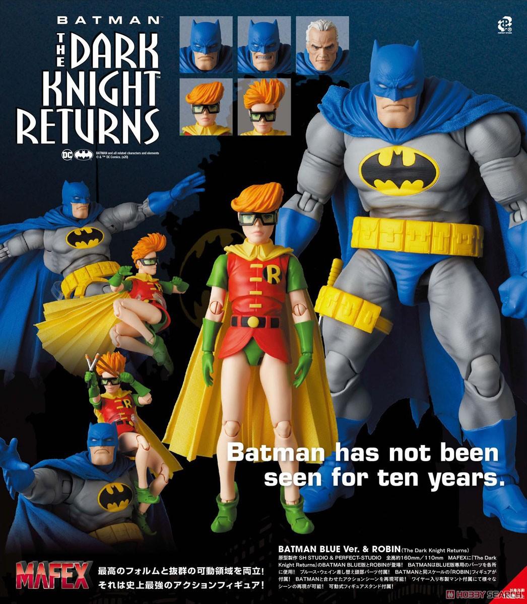 マフェックス No.133『MAFEX BATMAN BLUE Ver. & ROBIN(The Dark Knight Returns)/バットマン&ロビン』可動フィギュア-013