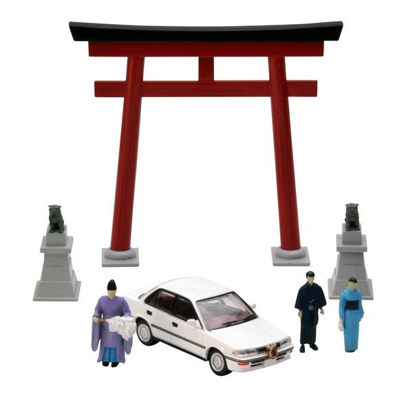 ジオラマコレクション『ジオコレ64 #カースナップ03a 初詣』1/64 ミニカー