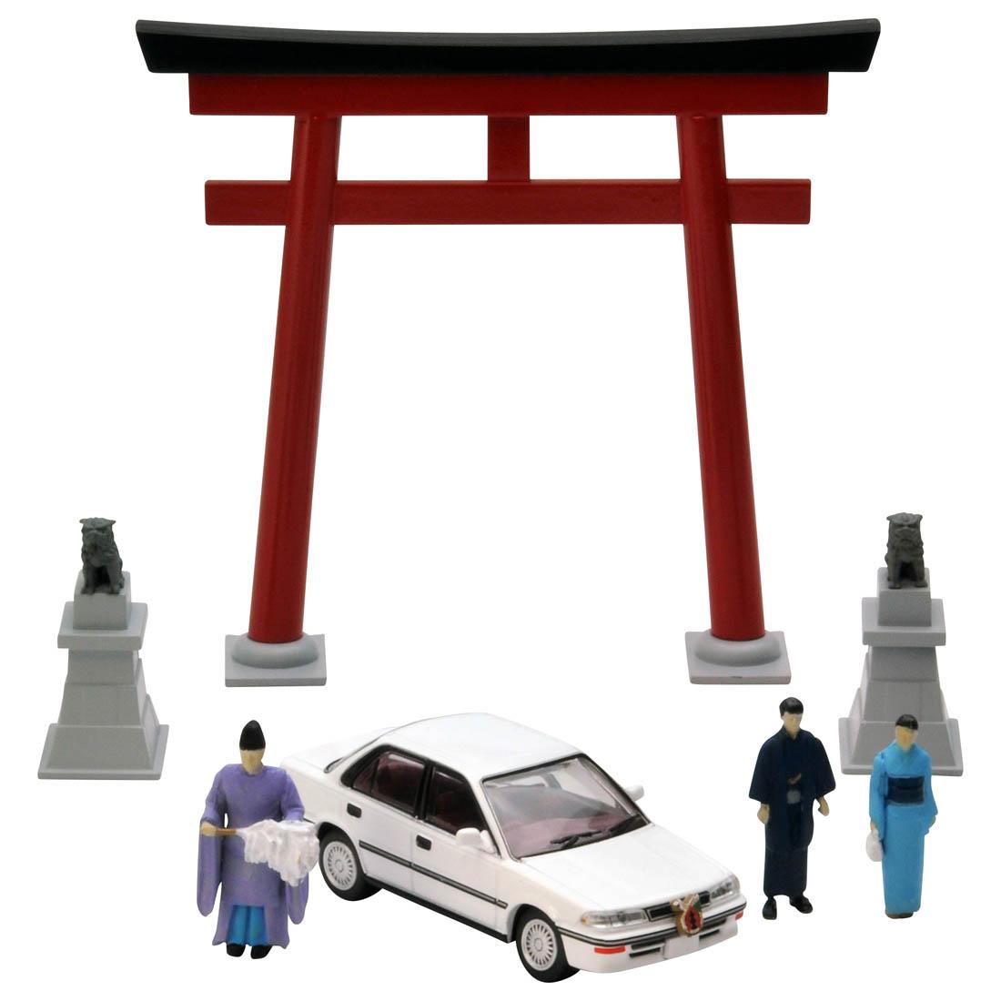 ジオラマコレクション『ジオコレ64 #カースナップ03a 初詣』1/64 ミニカー-001
