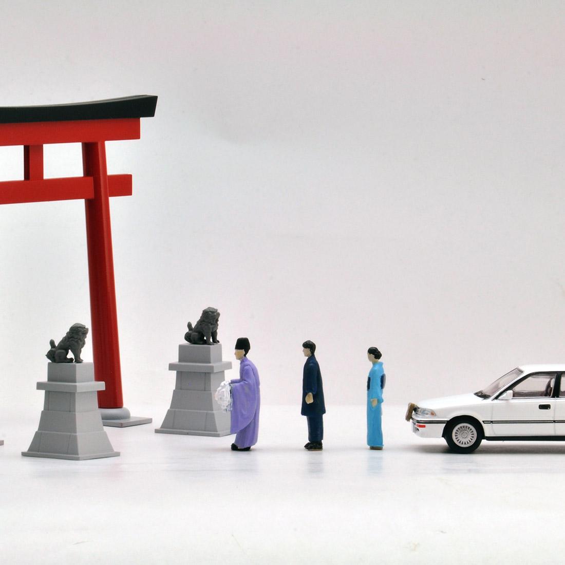 ジオラマコレクション『ジオコレ64 #カースナップ03a 初詣』1/64 ミニカー-006