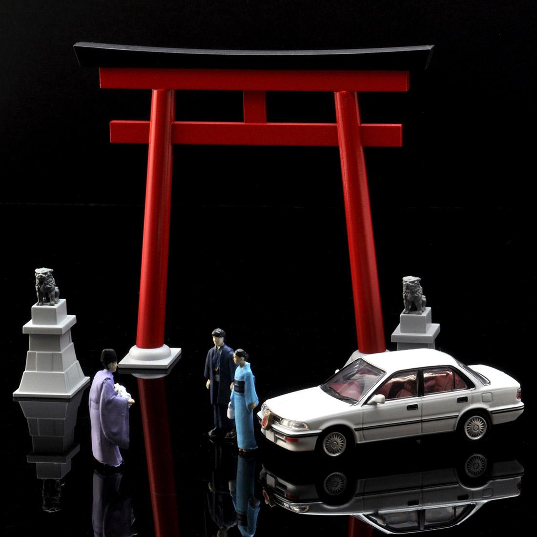 ジオラマコレクション『ジオコレ64 #カースナップ03a 初詣』1/64 ミニカー-007