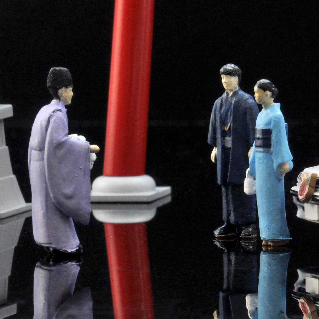 ジオラマコレクション『ジオコレ64 #カースナップ03a 初詣』1/64 ミニカー-008