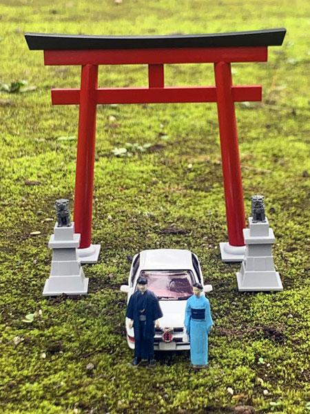 ジオラマコレクション『ジオコレ64 #カースナップ03a 初詣』1/64 ミニカー-011