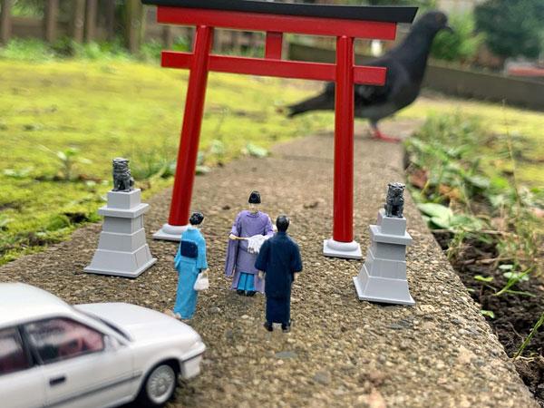 ジオラマコレクション『ジオコレ64 #カースナップ03a 初詣』1/64 ミニカー-015