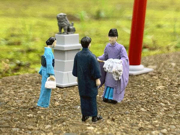 ジオラマコレクション『ジオコレ64 #カースナップ03a 初詣』1/64 ミニカー-016