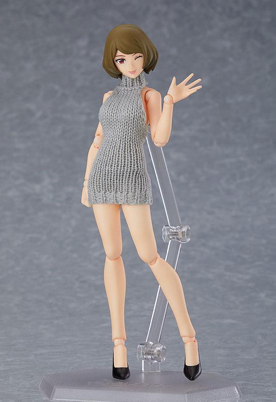 figma styles『女性body(チアキ)with バックレスセーターコーデ』可動フィギュア-001
