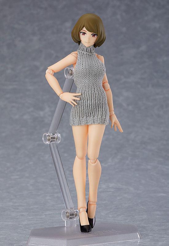 figma styles『女性body(チアキ)with バックレスセーターコーデ』可動フィギュア-002