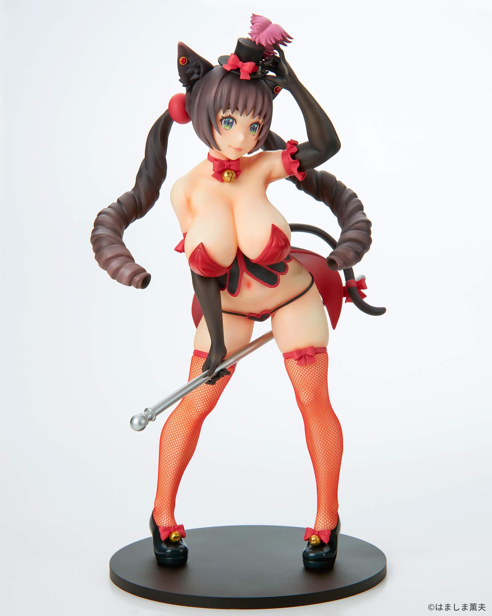 はましま薫夫オリジナルキャラクター『バーレスクキャット ベル 黒猫ver.』1/7 完成品フィギュア-002