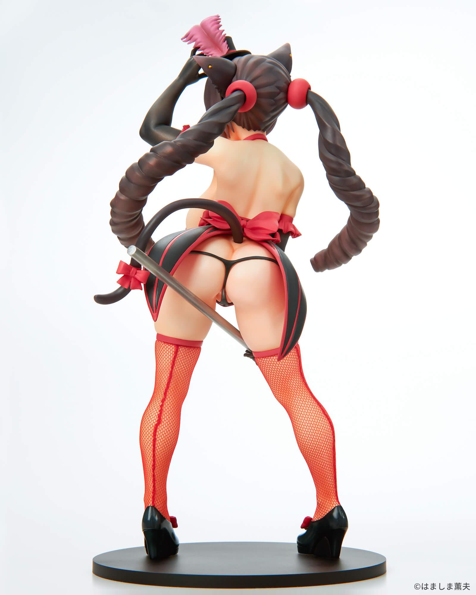 はましま薫夫オリジナルキャラクター『バーレスクキャット ベル 黒猫ver.』1/7 完成品フィギュア-006