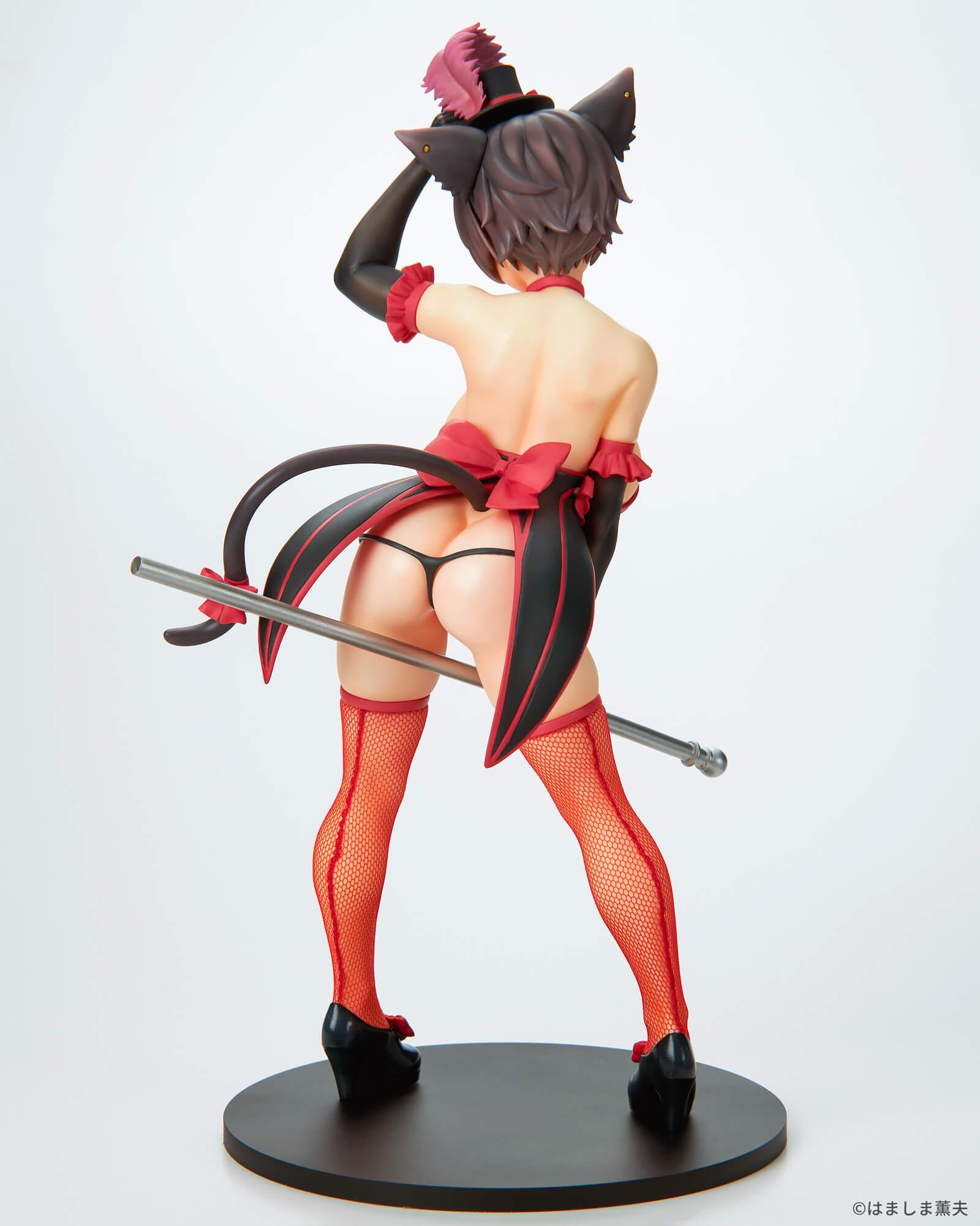 はましま薫夫オリジナルキャラクター『バーレスクキャット ベル 黒猫ver.』1/7 完成品フィギュア-011