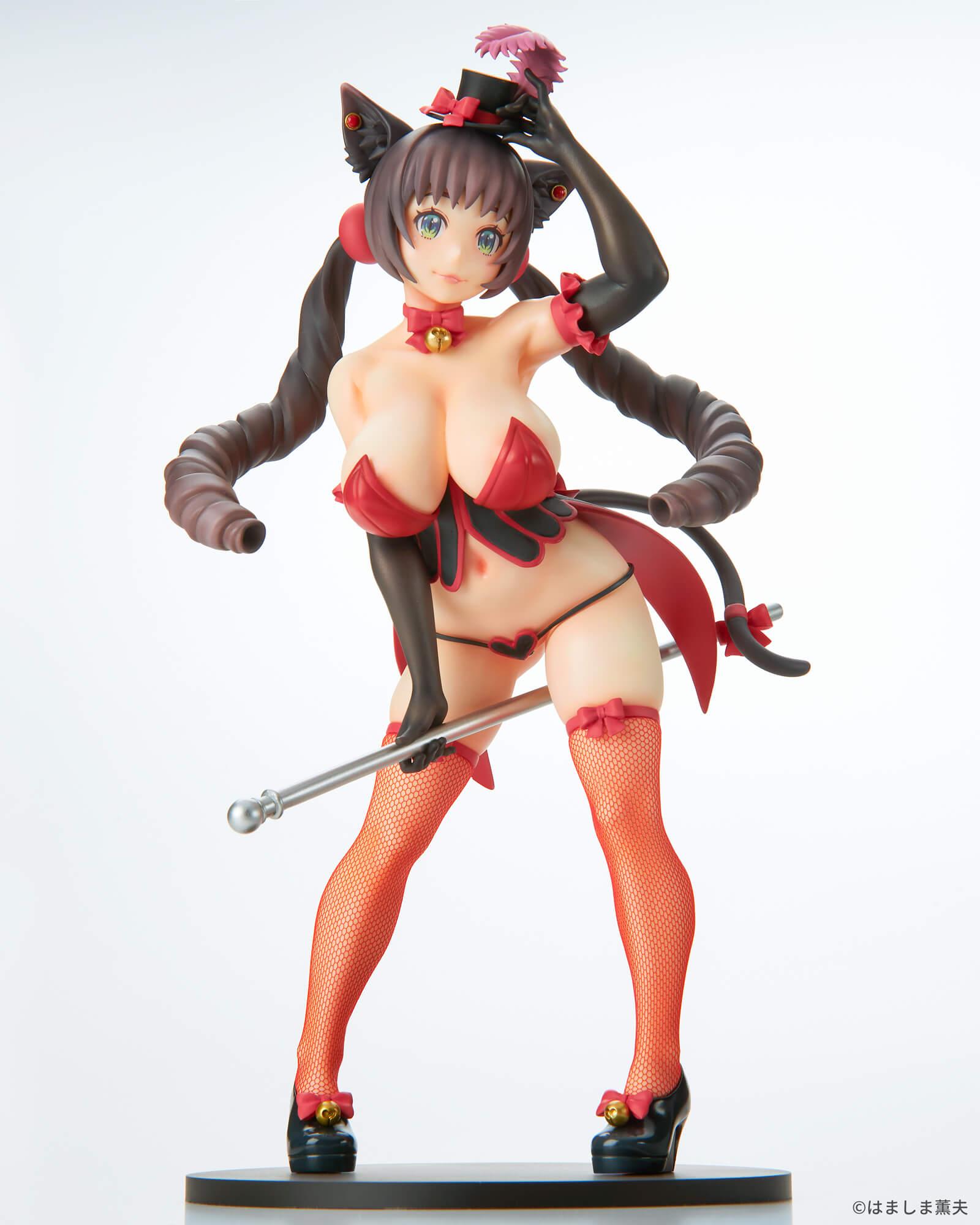 はましま薫夫オリジナルキャラクター『バーレスクキャット ベル 黒猫ver.』1/7 完成品フィギュア-014