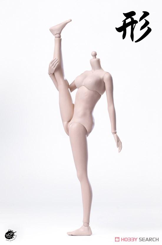 【再販】1/6 シン シリーズ スーパー『フレキシブル女性素体 シームレスジョイント【ペール】【スモール】バスト』ドール素体-005
