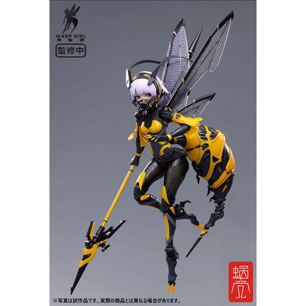 モグモ イラスト『BEE-03W WASP GIRL ブンちゃん』ワスプ ガール 1/12 可動フィギュア