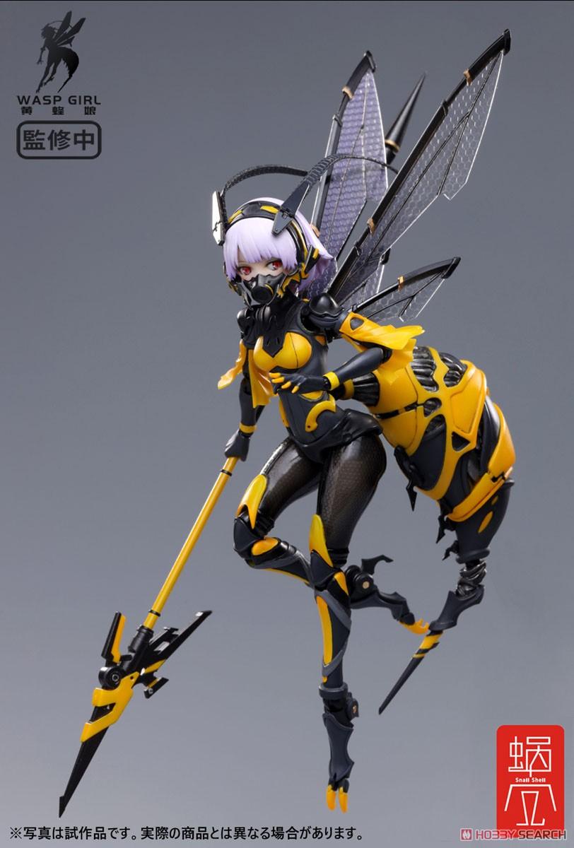 モグモ イラスト『BEE-03W WASP GIRL ブンちゃん』ワスプ ガール 1/12 可動フィギュア-001