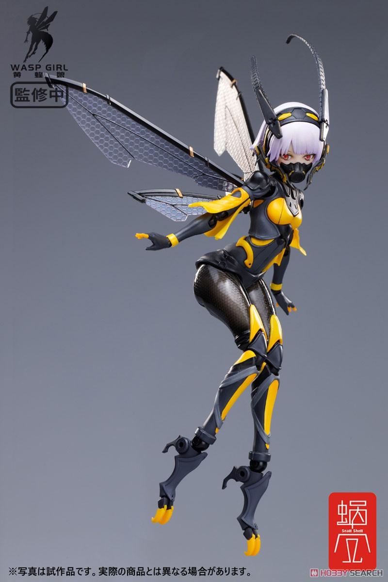 モグモ イラスト『BEE-03W WASP GIRL ブンちゃん』ワスプ ガール 1/12 可動フィギュア-003