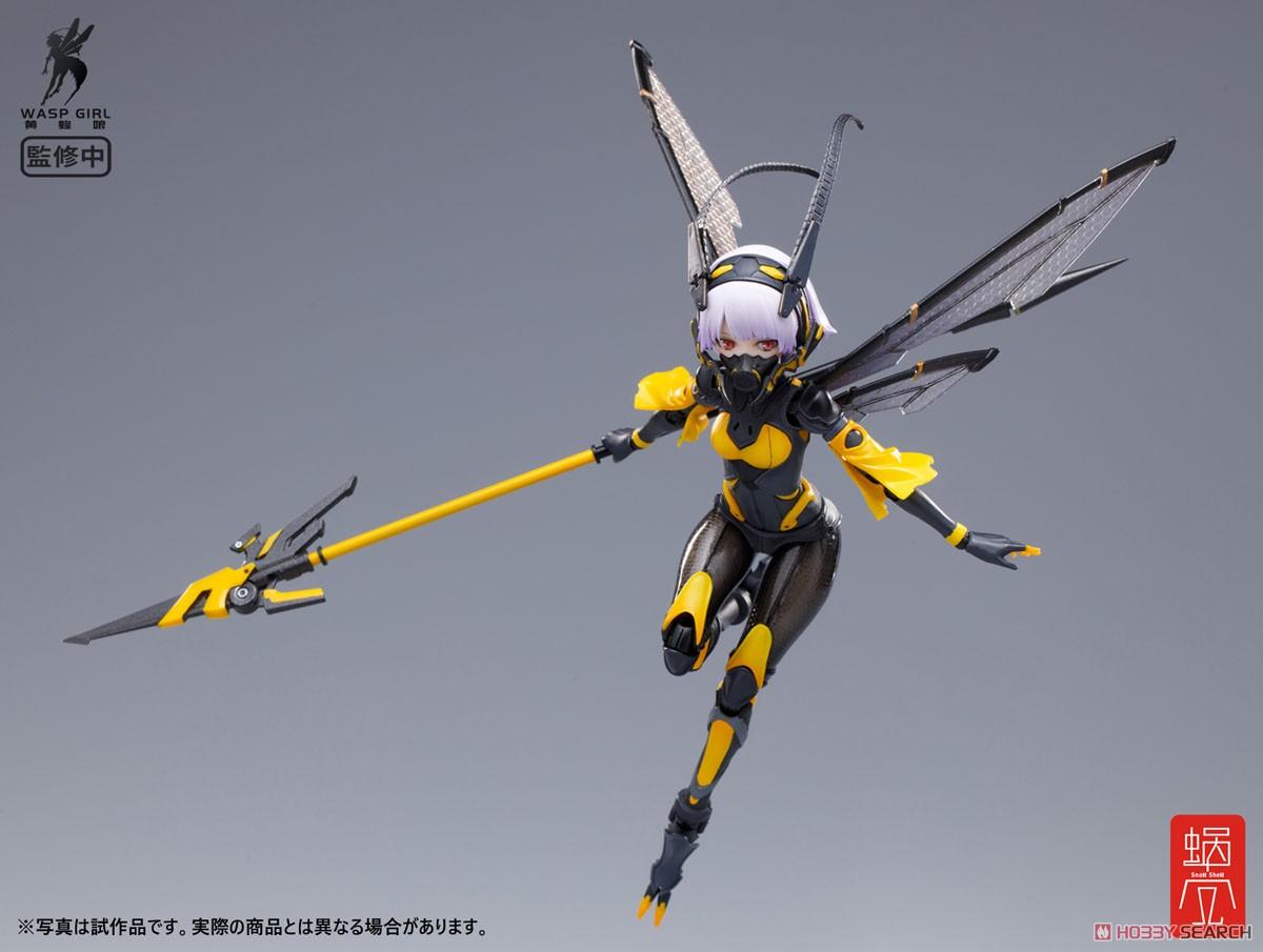 モグモ イラスト『BEE-03W WASP GIRL ブンちゃん』ワスプ ガール 1/12 可動フィギュア-005